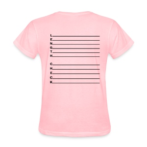 Length Check Letters - Women's T-Shirt