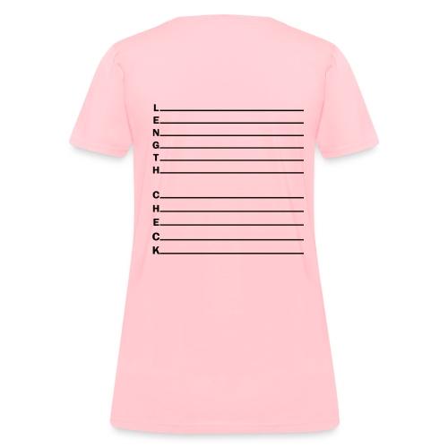 Length Check Letters - Women's T-Shirt