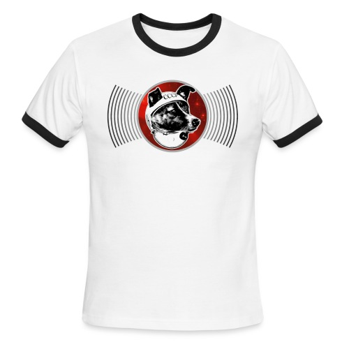 Laika Waves - no text - Men's Ringer T-Shirt