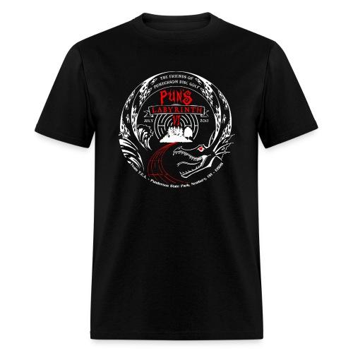 Pun's VI - Black / Red - Adult - Men's T-Shirt