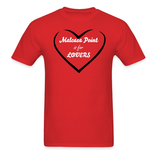 Malcasa Point is for Lovers! - Men's T-Shirt