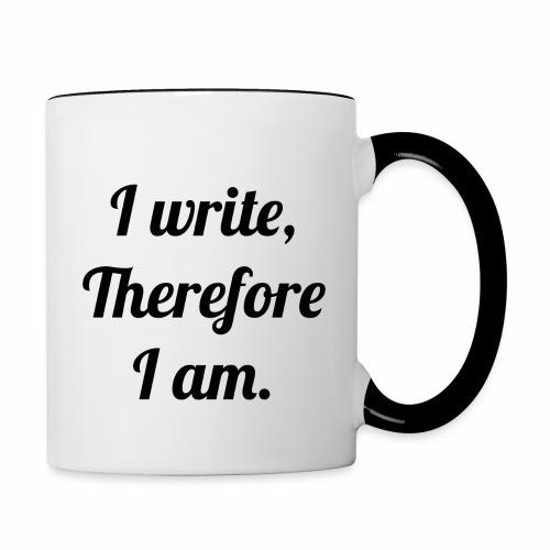 I Write, Therefore I Am Coffee Mug - Contrast Coffee Mug