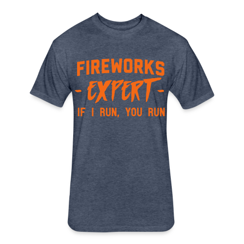 Fireworks EXPERT - Fitted Cotton/Poly T-Shirt by Next Level