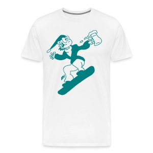 Snowboarding with beer mc T-Shirts - Men's Premium T-Shirt