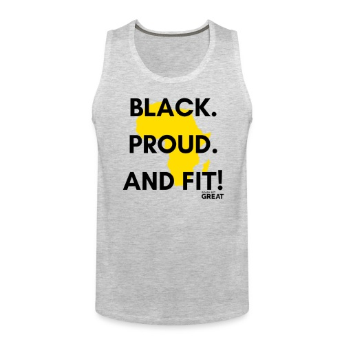 Black Proud & Fit Men's Tank - Men's Premium Tank