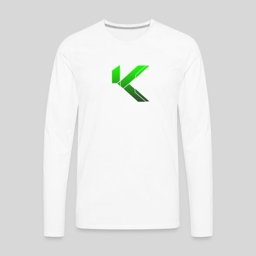 KingSleeve White/Green Male Edition - Men's Premium Long Sleeve T-Shirt