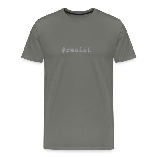 * hashtag Resist * #resist (velveteen.print)  - Men's Premium T-Shirt