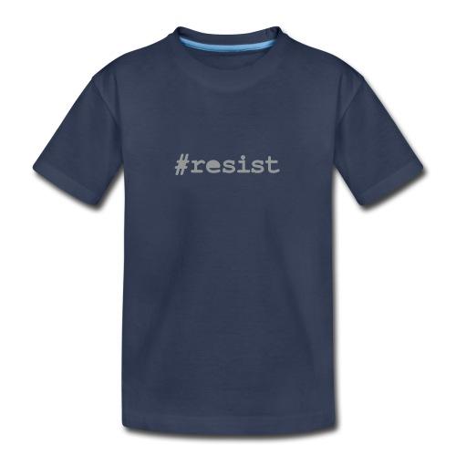 * hashtag Resist * #resist (velveteen.print)  - Kids' Premium T-Shirt