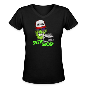 HIP HOP Women's V-Neck T-Shirt - Women's V-Neck T-Shirt