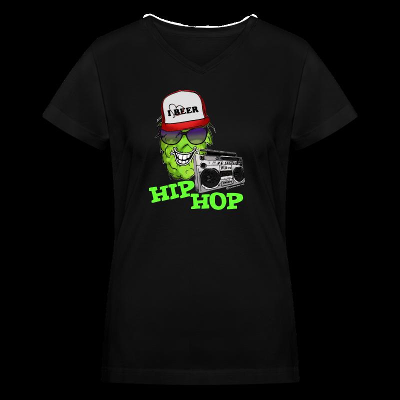 HIP HOP Women's V-Neck T-Shirt - Women's V-Neck T-Shirt
