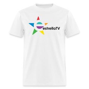 Men Estrella TV Shirt WH/BL - Men's T-Shirt