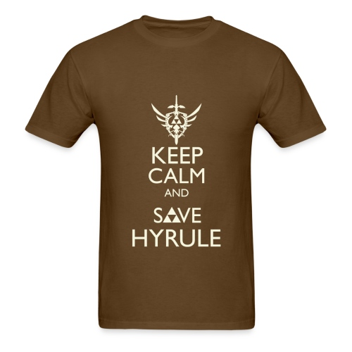 Keep Calm & Save Hyrule - Tan - Men's T-Shirt