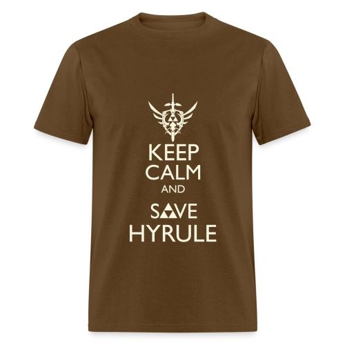 Keep Calm & Save Hyrule - Tan - Men's T-Shirt