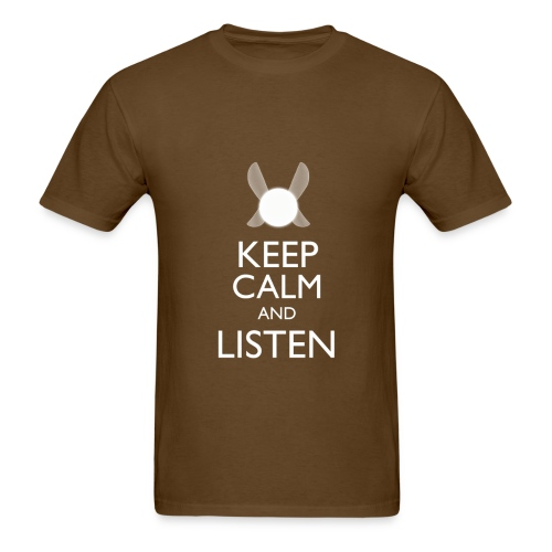 Navi - Keep Calm & Listen - White - Men's T-Shirt
