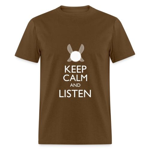 Navi - Keep Calm & Listen - White - Men's T-Shirt
