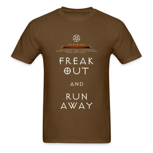 Diablo 3 Freak Out and Run Away - Men's T-Shirt