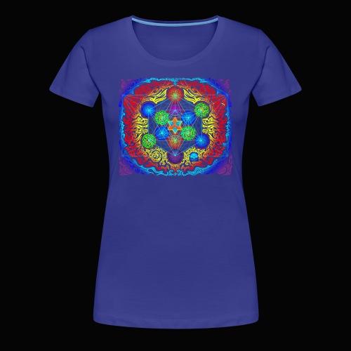 Metatron's Cube Ladies Tee - Women's Premium T-Shirt