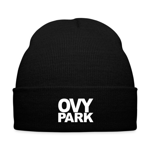 Ovy Park Beanie - Knit Cap with Cuff Print
