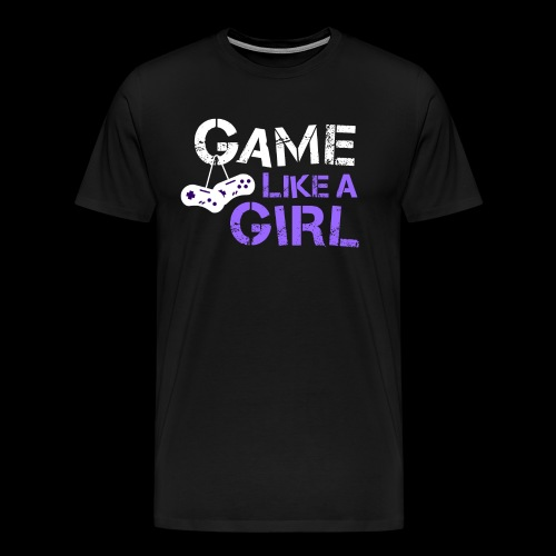 Game Like a Girl White Logo Tee - Men - Men's Premium T-Shirt