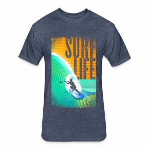 INDIGO SURF LIFE MIAMI COLLECTION  - Fitted Cotton/Poly T-Shirt by Next Level