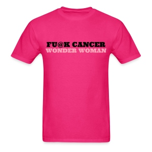 FU@K CANCER T-SHIRT pink/black - Men's T-Shirt