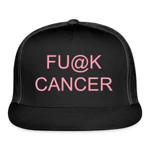 FU@K CANCER HAT black/pink - Trucker Cap