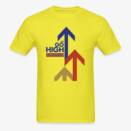 We Go High (Red & Blue) - Men's T-Shirt