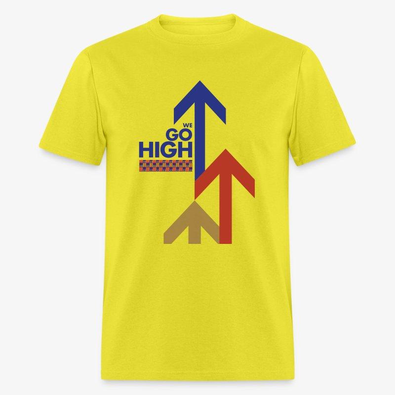 We Go High (Red & Blue) - Men's T-Shirt