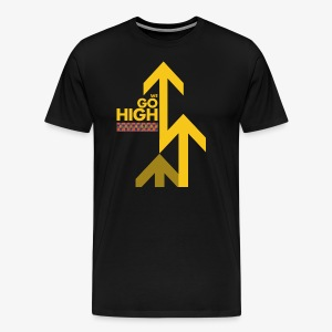 We Go High (Yellow Arrow) - Men's Premium T-Shirt