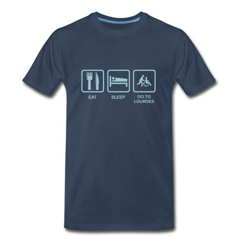 EAT, SLEEP, LOURDES - Men's Premium T-Shirt