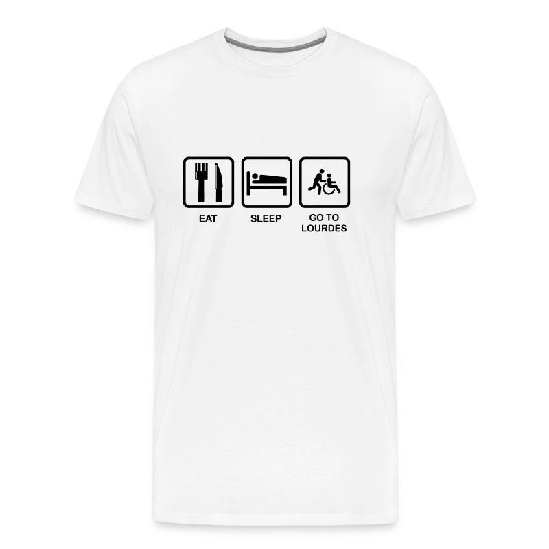 EAT, SLEEP, LOURDES - Men's Premium T-Shirt