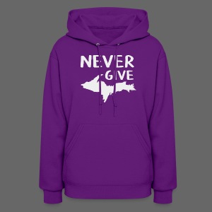 Never Give U.P.  - Women's Hoodie