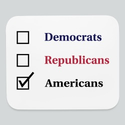 Election Ballot - Americans - Mouse pad Horizontal