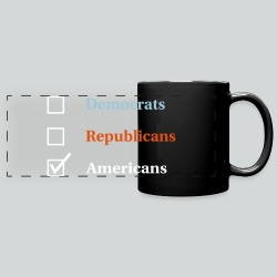 Election Ballot - Americans - Full Color Panoramic Mug
