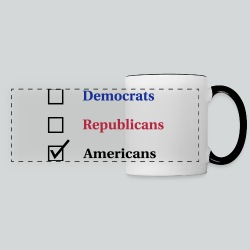 Election Ballot - Americans - Panoramic Mug
