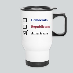 Election Ballot - Americans - Travel Mug
