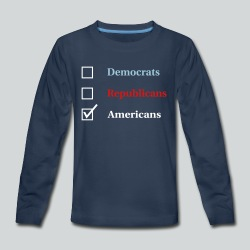 Election Ballot - Americans - Kids' Premium Long Sleeve T-Shirt