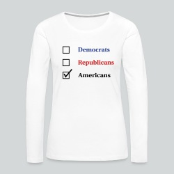 Election Ballot - Americans - Women's Premium Long Sleeve T-Shirt