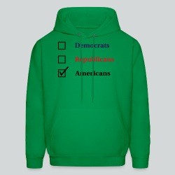 Election Ballot - Americans - Men's Hoodie