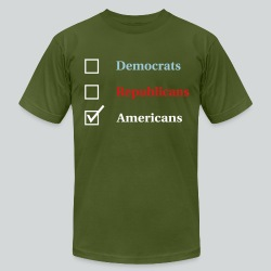 Election Ballot - Americans - Men's T-Shirt by American Apparel