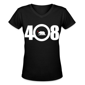 Area Code 408 - Women's V-Neck T-Shirt