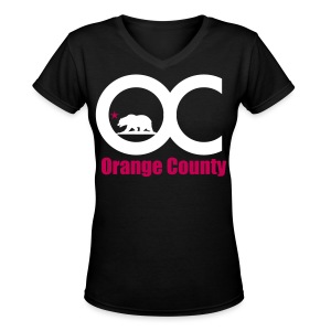 Orange County - Women's V-Neck T-Shirt