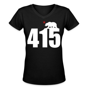 Area Code 415 - Women's V-Neck T-Shirt