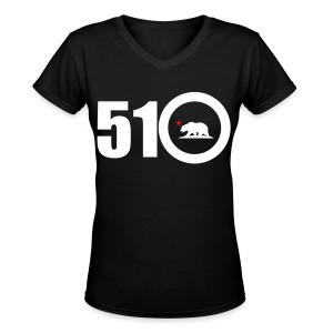 Area Code 510 - Women's V-Neck T-Shirt