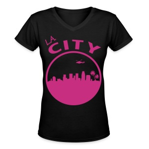 L.A. CITY - Women's V-Neck T-Shirt