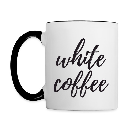 White Coffee - Contrast Coffee Mug