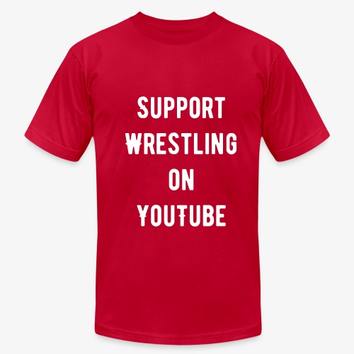 Support Wrestling on YouTube - Men's Fine Jersey T-Shirt