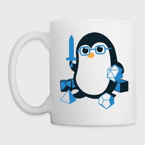 Cute Penguin Dungeons & Dragons Fantasy Dice - Coffee/Tea Mug