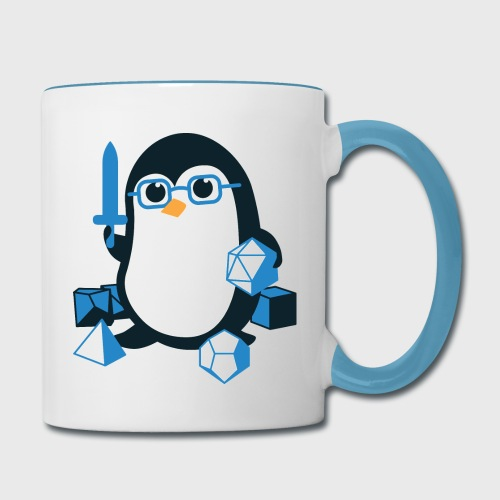 Cute Penguin Dungeons & Dragons Fantasy Dice - Contrast Coffee Mug