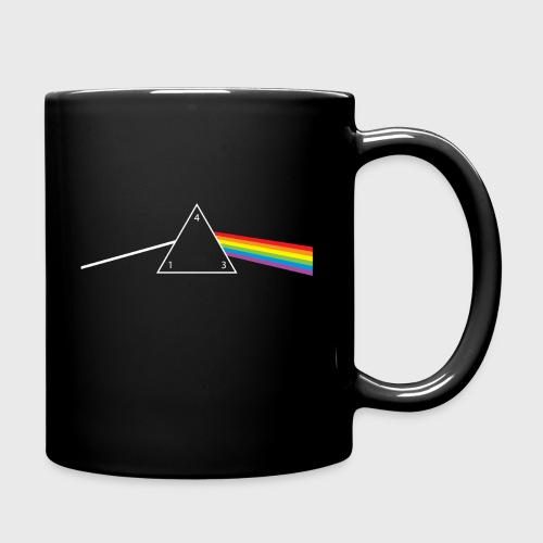 d4 Side of the Moon Dungeons & Dragons Pink Floyd Parody - Full Color Mug